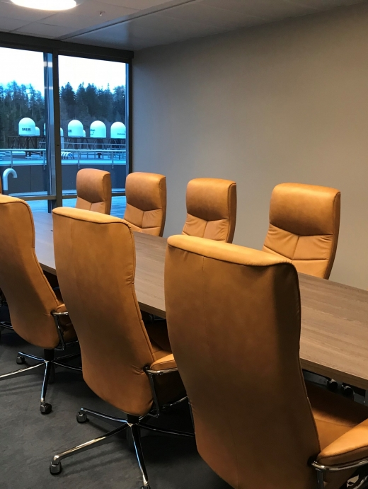 Sitteplass for opptil 11 personer.